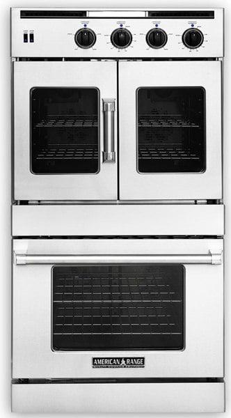 american range double wall oven dual fuel AROFSHGE230