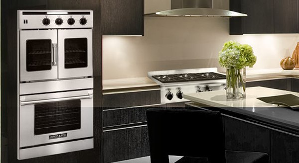 american range double wall oven kitchen