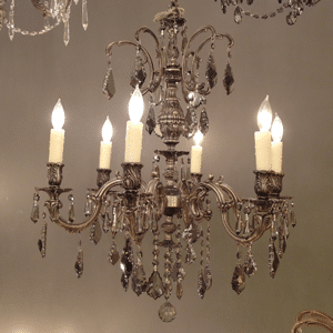 cast brass crystal chandelier