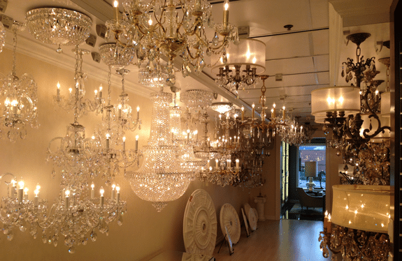 crystal chandelier display yale