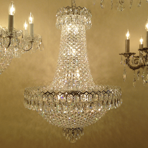 crystal chandelier no arms