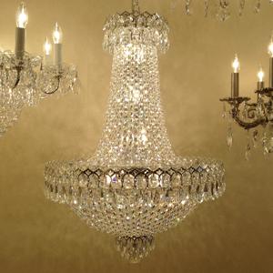 crystal chandelier no arms
