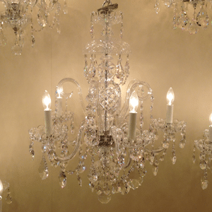 crystal chandelier with arms