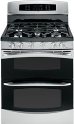 ge freestanding gas double oven range PGB995SETSS