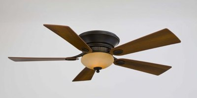 Best Low Profile, Flush Mounted Ceiling Fans (Reviews/Ratings)