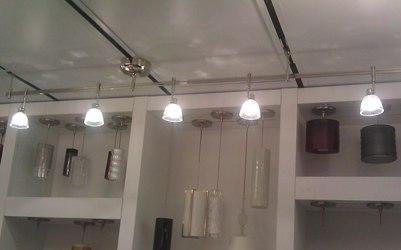 Standard Track Lighting Display, Cable Light Track Lighting, Monorail Track  Lighting