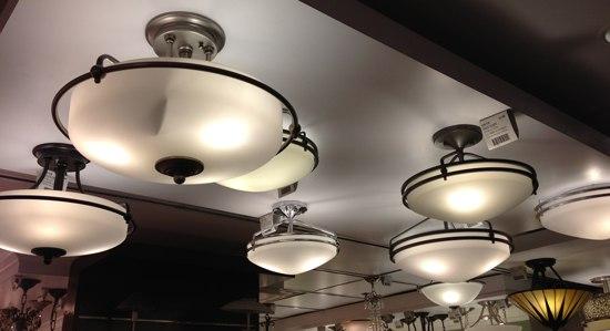 semi flush flushmount lights 8