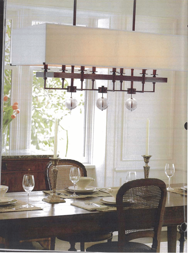 size dining room chandelier 3