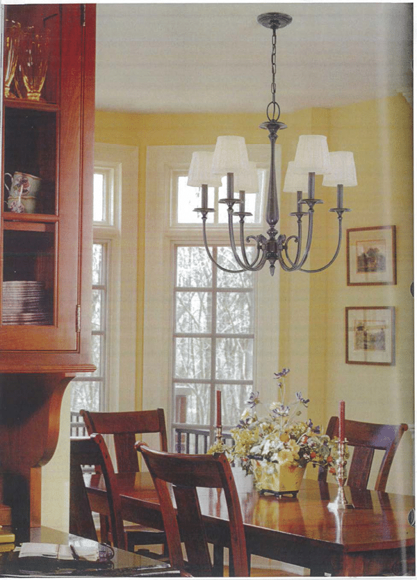 size dining room chandelier 4