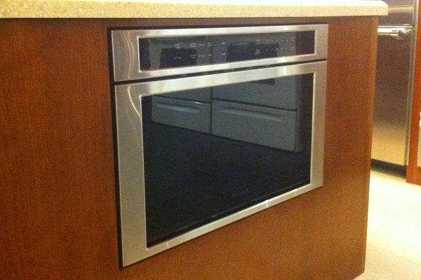 thermador warming drawer flush install