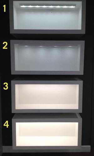 undercounter lighting display