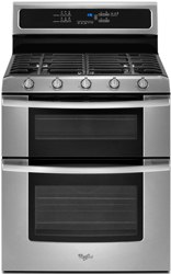 whilrpool gold freestanding gas double oven range GGG390LXS