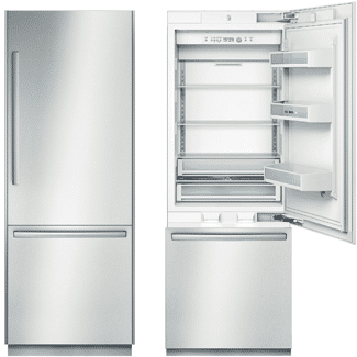 bosch 30 inch refrigerator B30BB830SS open closed