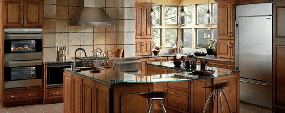 subzero built in kitchen display