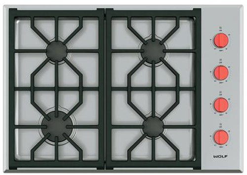 wolf 30 inch gas cooktop CT304PS