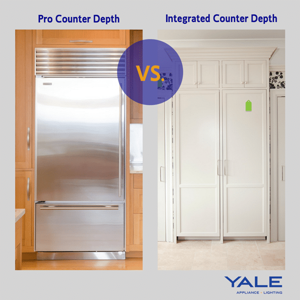 professional style refrigerator versus integrated style refrigerators