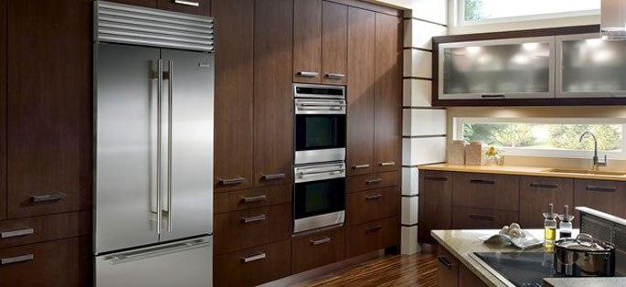 french door refrigerator in kitchen. Subzero French Door Installed Kitchen Refrigerator In N