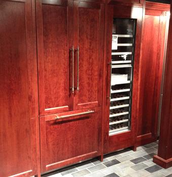 counter depth integrated refrigerator display 2013