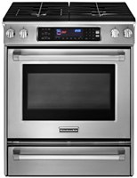 kitchenaid KGSS907XSP gas slidein convection range