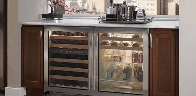 subzero undercounter refrigeration installed