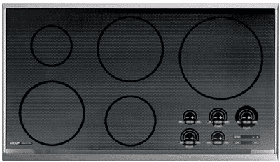 wolf induction cooktop stainless framed CT36IS