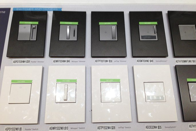 legrand switches dimmers options