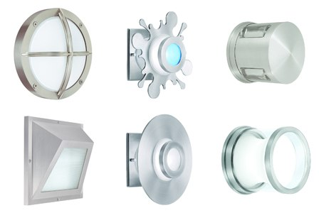 Superbe Creative Systems Lighting Wet Rated Wall Flushmounts