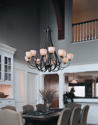 wrought iron chandelier dining room 4