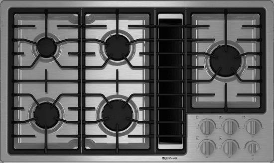 jennair downdraft gas cooktop JGD3536WS
