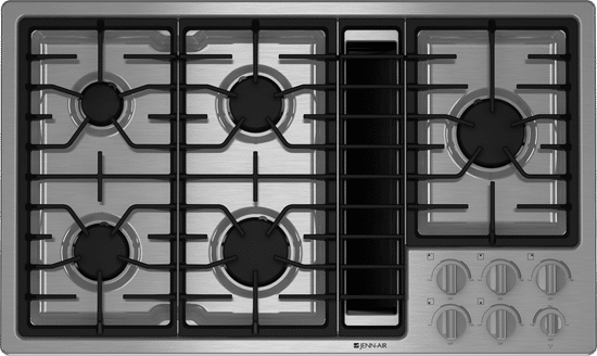 jennair downdraft gas cooktop jgd3536ws