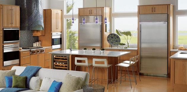 stainless steel kitchen install subzero