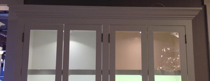 led puck lighting display - LED Tape Vs LED Pucks For Under Cabinet Lighting  (Reviews - Led Vs Fluorescent Under Cabinet Lighting Cymun Designs