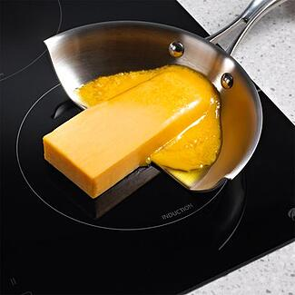 butter on induction cooktop