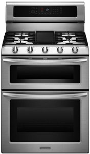 kitchenaid stainless 30 inch gas range KGRS505XSS