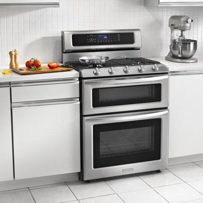 Kitchenaid Stainless 30 Inch Gas Range KGRS505XSS Installed