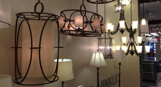 hinkley wrought iron chandelier display 102013