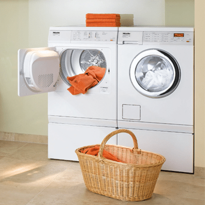 miele front load compact laundry installed