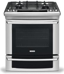 electrolux gas slidein range stainless EI30DS55JS