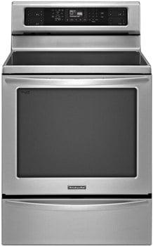 kitchenaid powerful induction freestanding range KIRS608BSS
