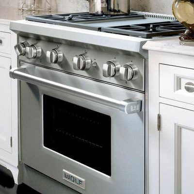 Attractive Wolf Professional 36 Inch Range With Griddle GR364G Installed