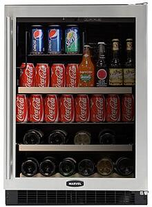 marvel under counter beverage center stainless 6BARMBSGR
