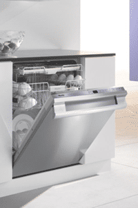 miele stainless dishwasher installed G5285SCSF