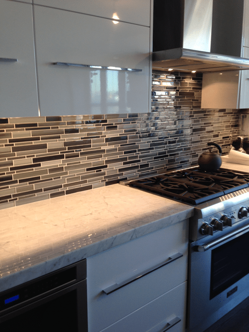 Custom Tile Backsplash W Legrand Under Cabinet 1