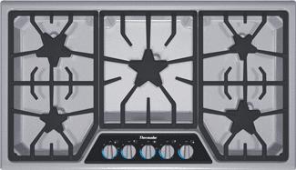 thermador 5 burner gas cooktop SGSX365FS