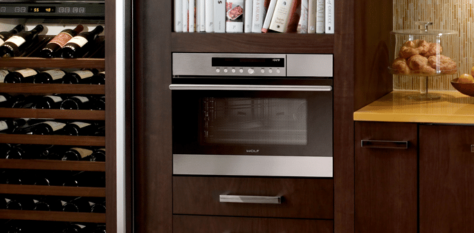 CSO24 steam oven installed kitchen