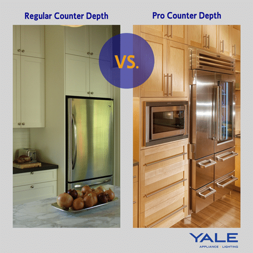 Professional Refrigerator Vs. Regular Refrigerator. A Professional Counter  Depth ...