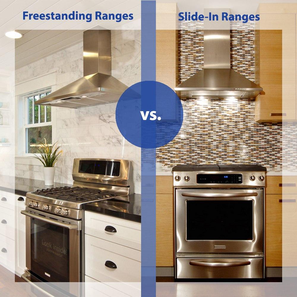 Ge cafe dual fuel slide in range - Slide In Ranges Vs Freestanding Ranges