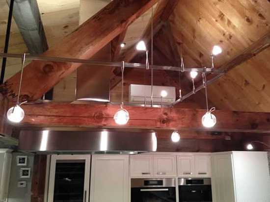 How to light a kitchen track vs recessed lighting reviews ratings kitchen example track recessed 1 aloadofball Image collections