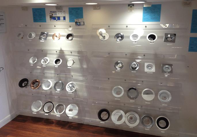 recessed display yale lighting