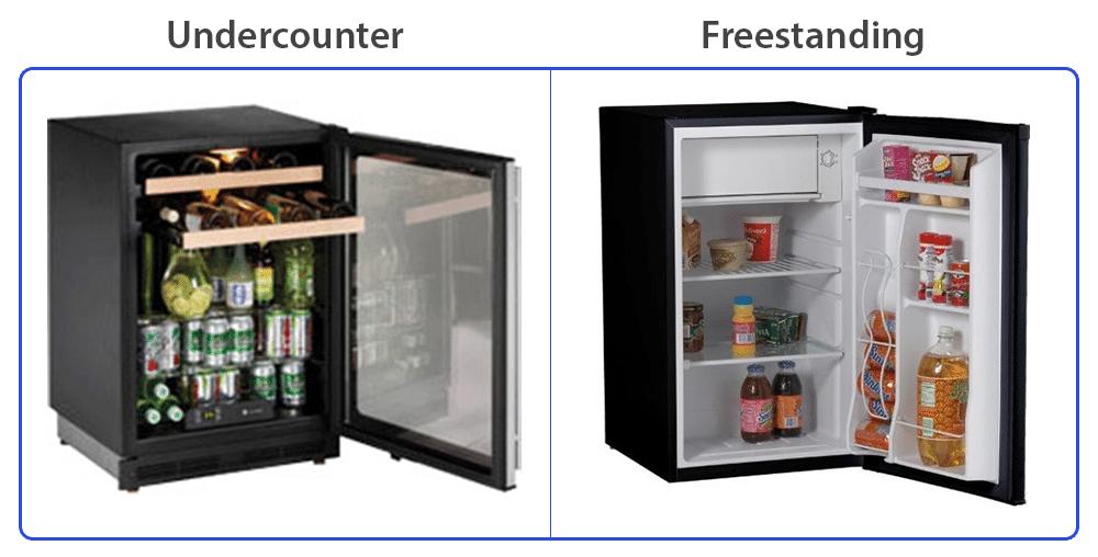 undercounter-vs-freestanding-beverage-center